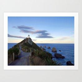 Nugget Point Lighthouse Art Print