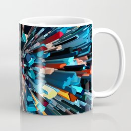 Three Dimensional Color Stacks Coffee Mug
