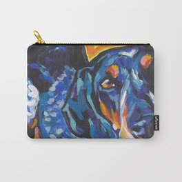 Fun BLUETICK COONHOUND Dog bright colorful Pop Art painting by Lea Carry-All Pouch