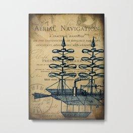 Vintage Airship Metal Print