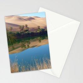 Gaberoun Oasis and Idehan Ubari Desert Dunes,  Libyan Sahara Stationery Cards