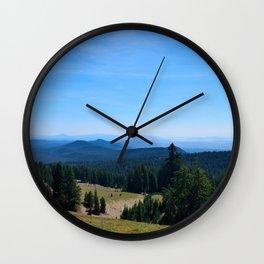 Driving along the Rim / Crater Lake National Park Wall Clock