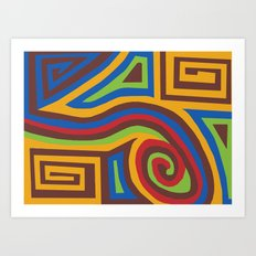 Red Swirl Art Print