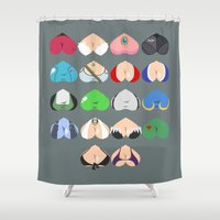 video games Shower Curtains featuring Females In Video Games by Leguna