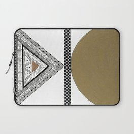 Geometric Shapes with Gold, Copper and Silver Laptop Sleeve