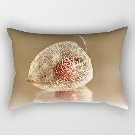 Physalis on gold Rectangular Pillow