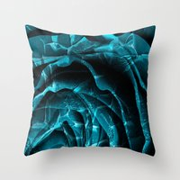 Throw Pillows featuring Nuclear Winter Rose by Nicolas Raymond