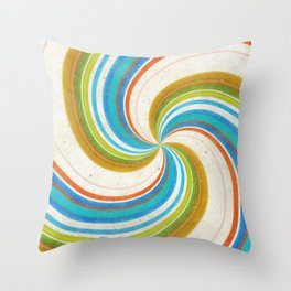 Swirling Retro Candy Pop Throw Pillow