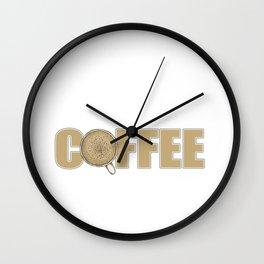 Accountant Powered By Coffee Wall Clock