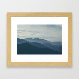 Wild Blue Mountains Framed Art Print