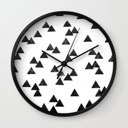 MOUNTAIN WHITE Wall Clock