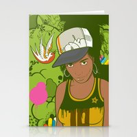 lou reed Stationery Cards featuring Lou by Mega