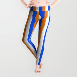Team Colors 4... orange , blue  and white Leggings