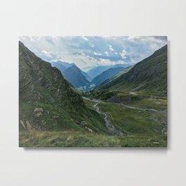 Swiss Alpine Valley (Ticino, Switzerland) Metal Print