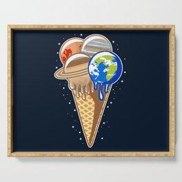 Planet Ice Cream Serving Tray