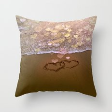Love vs Letting Go Throw Pillow