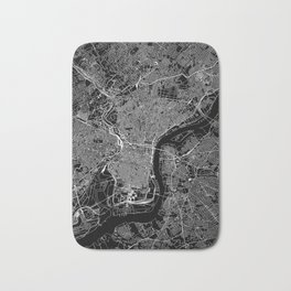 Philadelphia Black Map Bath Mat