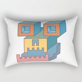 Skull of Unknown Creature Rectangular Pillow