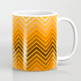 Orange chevron Coffee Mug