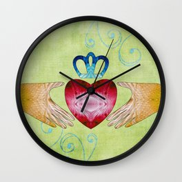 Colorful Inspirational Art - Friendship - Sharon Cummings Wall Clock