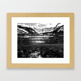 Monochrome Caribbean Layers Framed Art Print