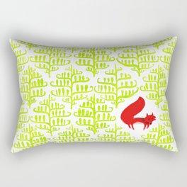 Damask forest pattern Rectangular Pillow