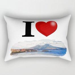 I Love Napoli Rectangular Pillow