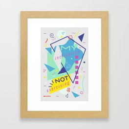 Cautious Potato Framed Art Print