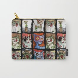 9 zombie cats Carry-All Pouch
