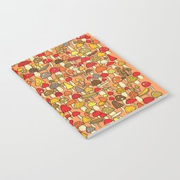 Mouse among mushrooms Notebook