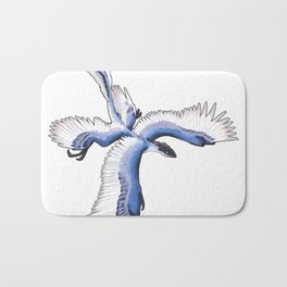 Microraptor - Blue Bath Mat