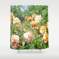 thanksgiving Shower Curtains featuring Faded Thanksgiving  by BananatheNana