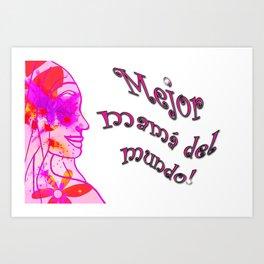 mejor mama Art Print