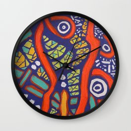 COLOR MY WORLD 8 Wall Clock
