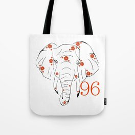 96 Elephants Tote Bag