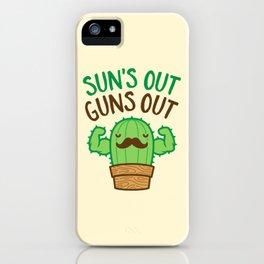 Sun's Out Guns Out Macho Cactus iPhone Case