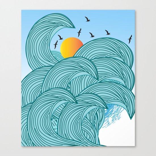 sea wave 4 Canvas Print