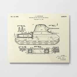 Insulated Military Tank and Other Vehicle-1945 Metal Print