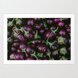 Vibrant Purple Augergines Art Print