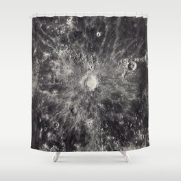 1934 Lunar Detail Shower Curtain