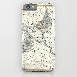 Constellations Lacerta, Cygnus, Lyra Celestial Atlas Plate 11 - Alexander Jamieson iPhone Case