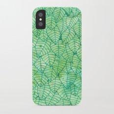 Green foliage Slim Case iPhone X