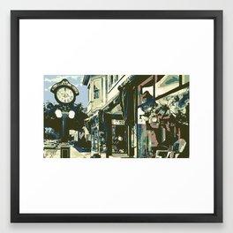 Armbruster Clock & Storefront - Cedarburg WI (muted) Framed Art Print