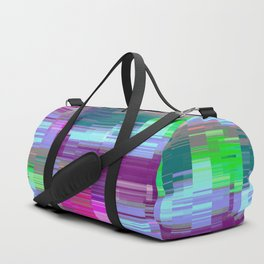Pastel Glitch Duffle Bag
