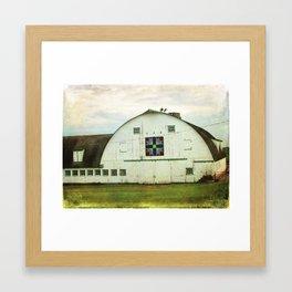 Amish Barn Quilt Kalona, Iowa Framed Art Print