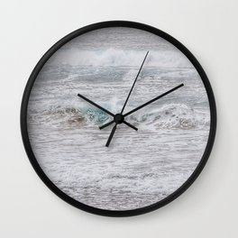 Minty sparkles Wall Clock