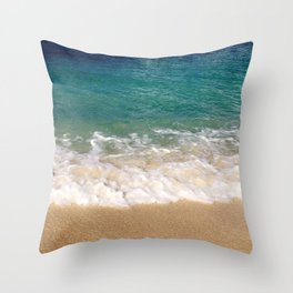 Cayman Waves Throw Pillow