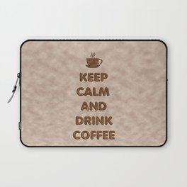 Keep Calm and Drink Coffee Typography Laptop Sleeve