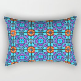 Southwestern Glass Tile Digital Art Rectangular Pillow