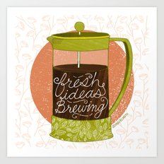 French Pressed Ideas  Art Print